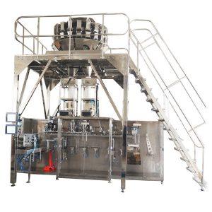 Хоризонтална претходно направљена машина за паковање с вишесезонским вагањима за грануле