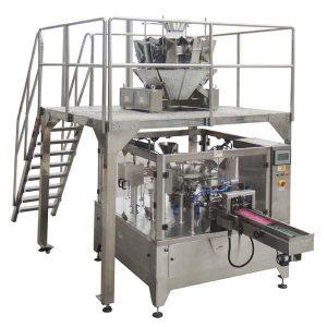 Ротирајућа аутоматска торба за зиппер пуну машину за паковање печата за матице од семена